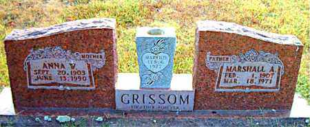 GRISSOM, MARSHALL  A. - Boone County, Arkansas | MARSHALL  A. GRISSOM - Arkansas Gravestone Photos