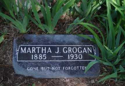 GROGAN, MARTHA J. - Boone County, Arkansas | MARTHA J. GROGAN - Arkansas Gravestone Photos