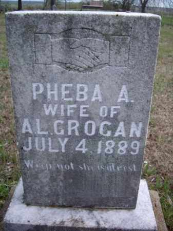 GROGAN, PHEBA A. - Boone County, Arkansas | PHEBA A. GROGAN - Arkansas Gravestone Photos