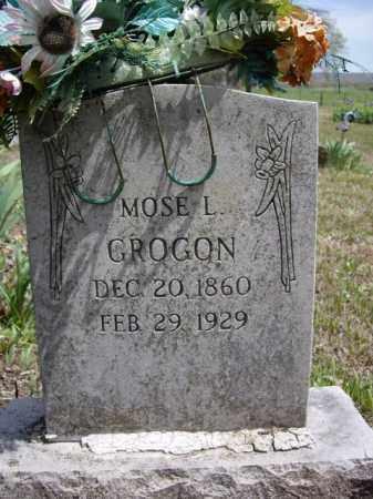GROGON, MOSE L. - Boone County, Arkansas | MOSE L. GROGON - Arkansas Gravestone Photos