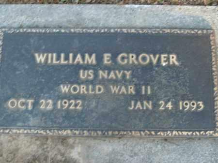 GROVER  (VETERAN WWII), WILLIAM E - Boone County, Arkansas | WILLIAM E GROVER  (VETERAN WWII) - Arkansas Gravestone Photos