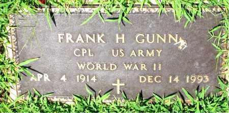 GUNN  (VETERAN WWII), FRANK H. - Boone County, Arkansas | FRANK H. GUNN  (VETERAN WWII) - Arkansas Gravestone Photos