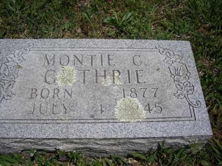 GUTHRIE, MONTIE C. - Boone County, Arkansas | MONTIE C. GUTHRIE - Arkansas Gravestone Photos