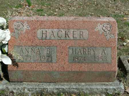 HACKER, HARRY A. - Boone County, Arkansas | HARRY A. HACKER - Arkansas Gravestone Photos