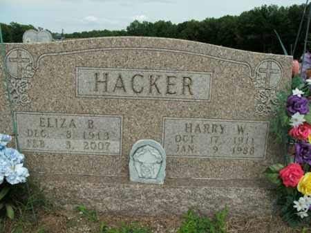 RAINS HACKER, ELIZA BERNADENE - Boone County, Arkansas | ELIZA BERNADENE RAINS HACKER - Arkansas Gravestone Photos