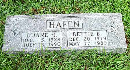HAFEN, BETTIE B. - Boone County, Arkansas | BETTIE B. HAFEN - Arkansas Gravestone Photos
