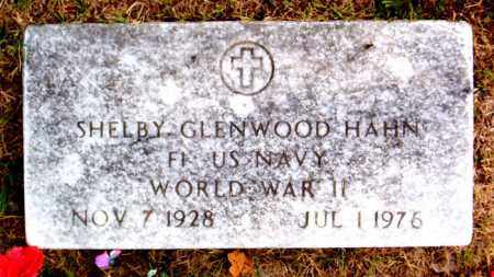 HAHN (VETERAN WWII), SHELBY GLENWOOD - Boone County, Arkansas | SHELBY GLENWOOD HAHN (VETERAN WWII) - Arkansas Gravestone Photos