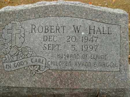 HALL, ROBERT W. - Boone County, Arkansas | ROBERT W. HALL - Arkansas Gravestone Photos