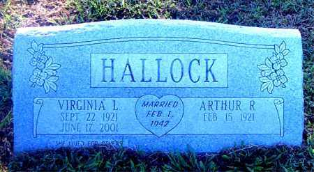 HALLOCK, VIRGINIA L. - Boone County, Arkansas | VIRGINIA L. HALLOCK - Arkansas Gravestone Photos