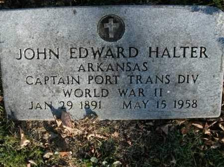 HALTER, SR  (VETERAN WWII), JOHN EDWARD - Boone County, Arkansas | JOHN EDWARD HALTER, SR  (VETERAN WWII) - Arkansas Gravestone Photos