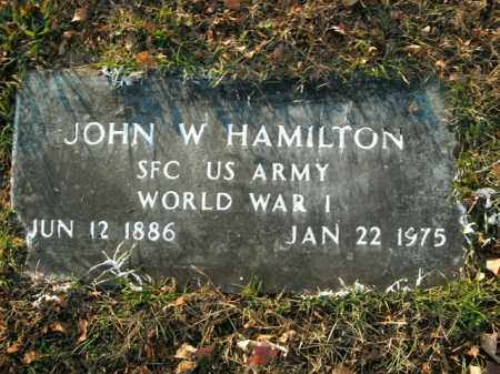 HAMILTON  (VETERAN WWI), JOHN W - Boone County, Arkansas | JOHN W HAMILTON  (VETERAN WWI) - Arkansas Gravestone Photos