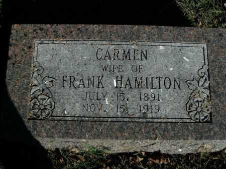 HAMILTON, CARMEN - Boone County, Arkansas | CARMEN HAMILTON - Arkansas Gravestone Photos
