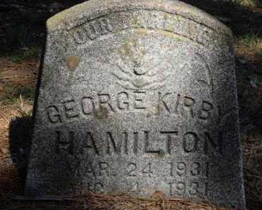 HAMILTON, GEORGE KIRBY - Boone County, Arkansas | GEORGE KIRBY HAMILTON - Arkansas Gravestone Photos