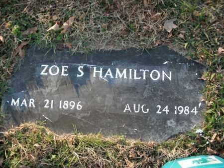 HAMILTON, ZOE S. - Boone County, Arkansas | ZOE S. HAMILTON - Arkansas Gravestone Photos