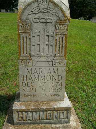 HAMMOND, MARIAM - Boone County, Arkansas | MARIAM HAMMOND - Arkansas Gravestone Photos
