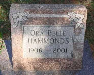 HAMMONDS, ORA BELLE - Boone County, Arkansas | ORA BELLE HAMMONDS - Arkansas Gravestone Photos