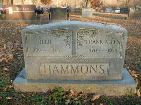 HAMMONS, OLLIE - Boone County, Arkansas | OLLIE HAMMONS - Arkansas Gravestone Photos
