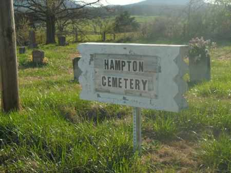 *HAMPTON SIGN, . - Boone County, Arkansas | . *HAMPTON SIGN - Arkansas Gravestone Photos