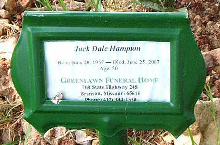 HAMPTON, JACK DALE - Boone County, Arkansas | JACK DALE HAMPTON - Arkansas Gravestone Photos