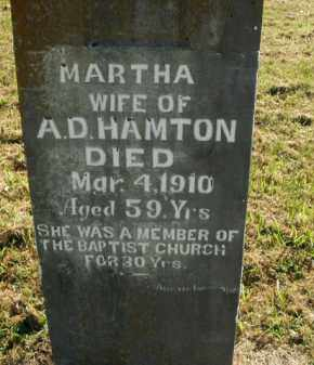 HAMTON, MARTHA - Boone County, Arkansas | MARTHA HAMTON - Arkansas Gravestone Photos