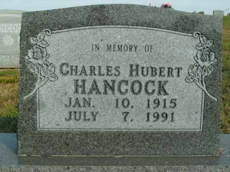 HANCOCK, CHARLES HUBERT - Boone County, Arkansas | CHARLES HUBERT HANCOCK - Arkansas Gravestone Photos