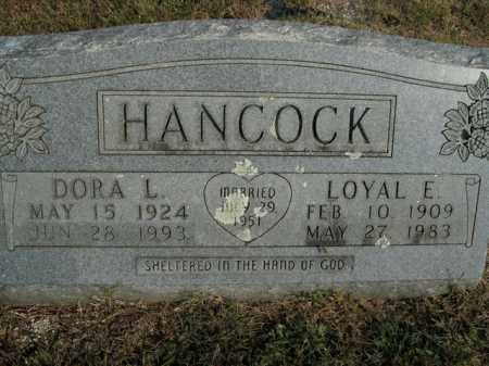 HANCOCK, LOYAL E. - Boone County, Arkansas | LOYAL E. HANCOCK - Arkansas Gravestone Photos