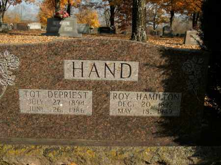 HAND, ROY HAMILTON - Boone County, Arkansas | ROY HAMILTON HAND - Arkansas Gravestone Photos