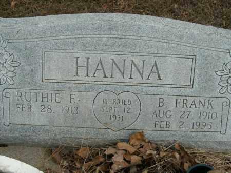HANNA, B. FRANK - Boone County, Arkansas | B. FRANK HANNA - Arkansas Gravestone Photos
