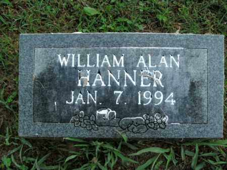 HANNER, WILLIAM ALAN - Boone County, Arkansas | WILLIAM ALAN HANNER - Arkansas Gravestone Photos