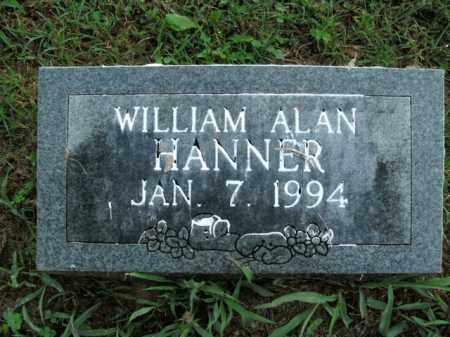 HANNER, WILLIAM ALAN - Boone County, Arkansas | WILLIAM ALAN HANNER - Arkansas Gravestone Photos