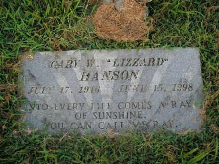 HANSON, GARY W. - Boone County, Arkansas | GARY W. HANSON - Arkansas Gravestone Photos