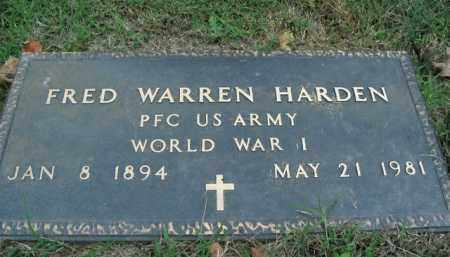 HARDEN  (VETERAN WWI), FRED WARREN - Boone County, Arkansas | FRED WARREN HARDEN  (VETERAN WWI) - Arkansas Gravestone Photos