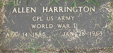 HARRINGTON (VETERAN WWI), ALLEN - Boone County, Arkansas | ALLEN HARRINGTON (VETERAN WWI) - Arkansas Gravestone Photos