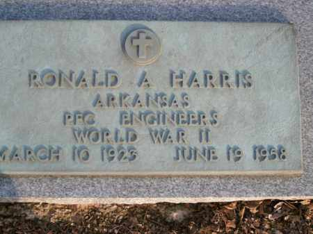 HARRIS  (VETERAN WWII), RONALD A - Boone County, Arkansas | RONALD A HARRIS  (VETERAN WWII) - Arkansas Gravestone Photos