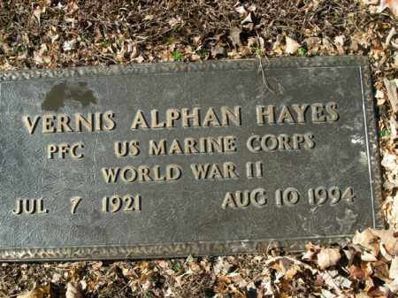 HAYES  (VETERAN WWII), VERNIS ALPHAN - Boone County, Arkansas | VERNIS ALPHAN HAYES  (VETERAN WWII) - Arkansas Gravestone Photos