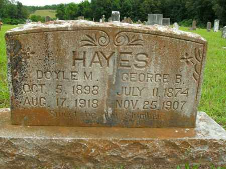 HAYES, GEORGE B. - Boone County, Arkansas | GEORGE B. HAYES - Arkansas Gravestone Photos