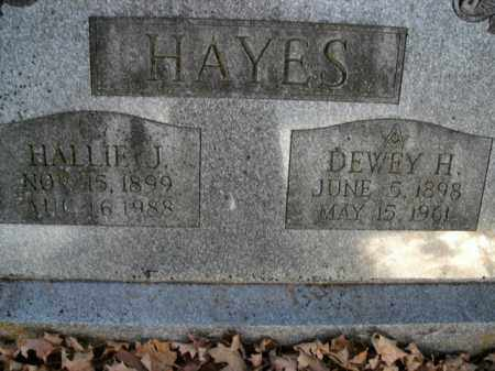 HAYES, HALLIE J. - Boone County, Arkansas | HALLIE J. HAYES - Arkansas Gravestone Photos