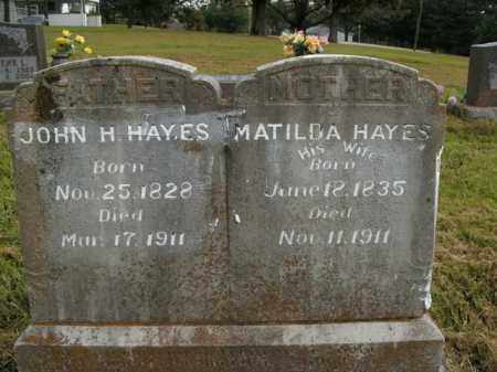 HAYES, JOHN H. - Boone County, Arkansas | JOHN H. HAYES - Arkansas Gravestone Photos