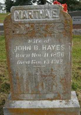 HAYES, MARTHA E. - Boone County, Arkansas | MARTHA E. HAYES - Arkansas Gravestone Photos