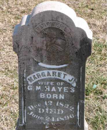 HAYES, MARGARET J. - Boone County, Arkansas | MARGARET J. HAYES - Arkansas Gravestone Photos