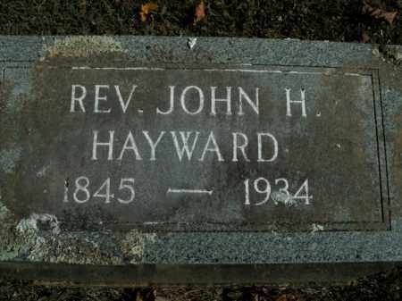 HAYWARD, JOHN H. (REVEREND) - Boone County, Arkansas | JOHN H. (REVEREND) HAYWARD - Arkansas Gravestone Photos