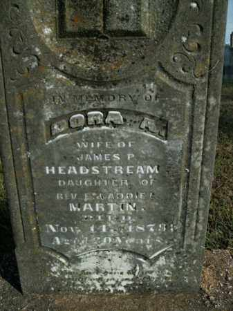 HEADSTREAM, DORA A. - Boone County, Arkansas | DORA A. HEADSTREAM - Arkansas Gravestone Photos