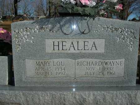 HEALEA, RICHARD WAYNE - Boone County, Arkansas | RICHARD WAYNE HEALEA - Arkansas Gravestone Photos