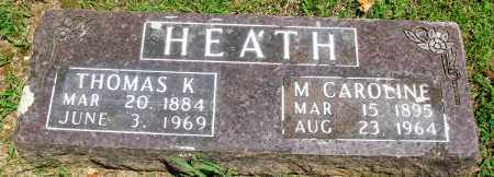 HEATH, M CAROLINE - Boone County, Arkansas | M CAROLINE HEATH - Arkansas Gravestone Photos