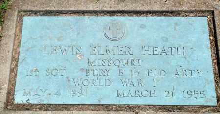 HEATH  (VETERAN WWI), LEWIS ELMER - Boone County, Arkansas | LEWIS ELMER HEATH  (VETERAN WWI) - Arkansas Gravestone Photos