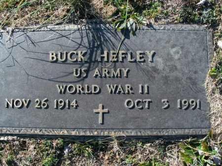 HEFLEY  (VETERAN WWII), BUCK - Boone County, Arkansas | BUCK HEFLEY  (VETERAN WWII) - Arkansas Gravestone Photos