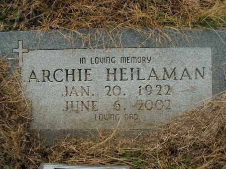 HEILAMAN, ARCHIE - Boone County, Arkansas | ARCHIE HEILAMAN - Arkansas Gravestone Photos