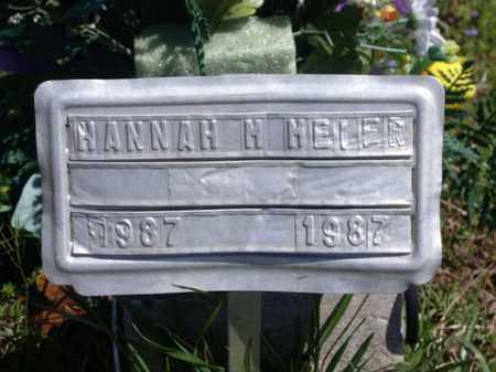 MELER, HANNAH M - Boone County, Arkansas | HANNAH M MELER - Arkansas Gravestone Photos