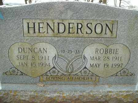 HENDERSON, DUNCAN - Boone County, Arkansas | DUNCAN HENDERSON - Arkansas Gravestone Photos