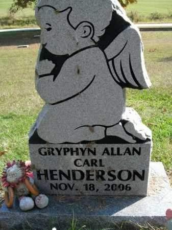 HENDERSON, GRYPHYN ALLAN CARL - Boone County, Arkansas | GRYPHYN ALLAN CARL HENDERSON - Arkansas Gravestone Photos